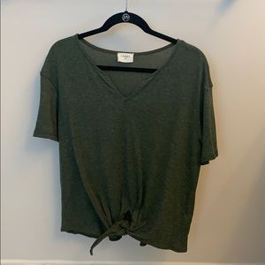 Cotton Army Green Top